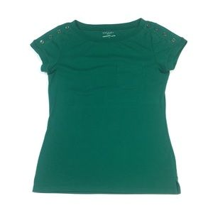 WS106 Talbots Stretch Weekend T Shirt S Petite